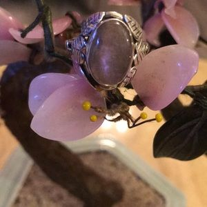 Vintage 925 light purple labradorite ring